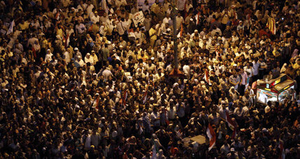 Tahrir Square fills again as protesters contest Egypt's military rule