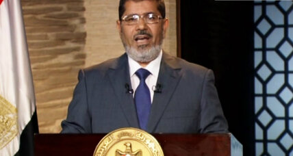 Egypt's president-elect Morsi vows to unite a divided nation
