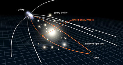 Astronomers find humongous galaxy cluster, thanks to gravitational lensing