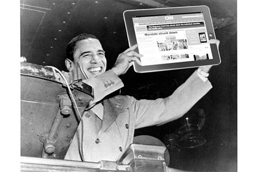 With media flub, Obama gets 'Dewey defeats Truman' moment with ...