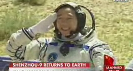 With a rough landing, Chinese astronauts return safely to Earth