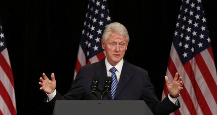 Bill Clinton takes on Romney at campaign event