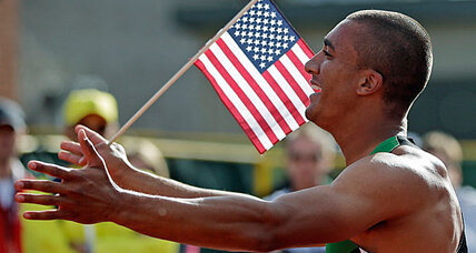 Ashton Eaton savors new world record in decathlon