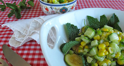 Chipotle corn and zucchini salad