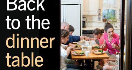 The family dinner is back – not haute, but the right thing to do