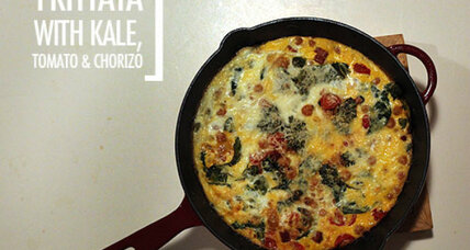 Feasting on Art: Frittata with kale, tomato, and chorizo