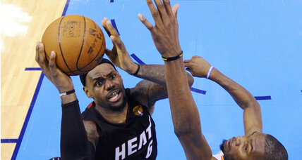 NBA Finals: LeBron helps Heat hold on to beat Thunder in Game 2