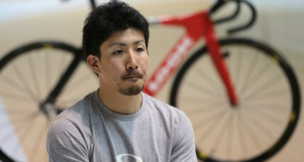 Japanese Olympic cyclist trying to energize evacuees of quake-ravaged town