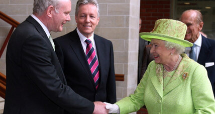 Historic handshake between British queen and Irish republican