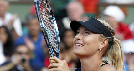 Sharapova, No. 1 in the world again, reaches French Open finals