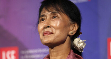 Suu Kyi cheered by supporters in Britain