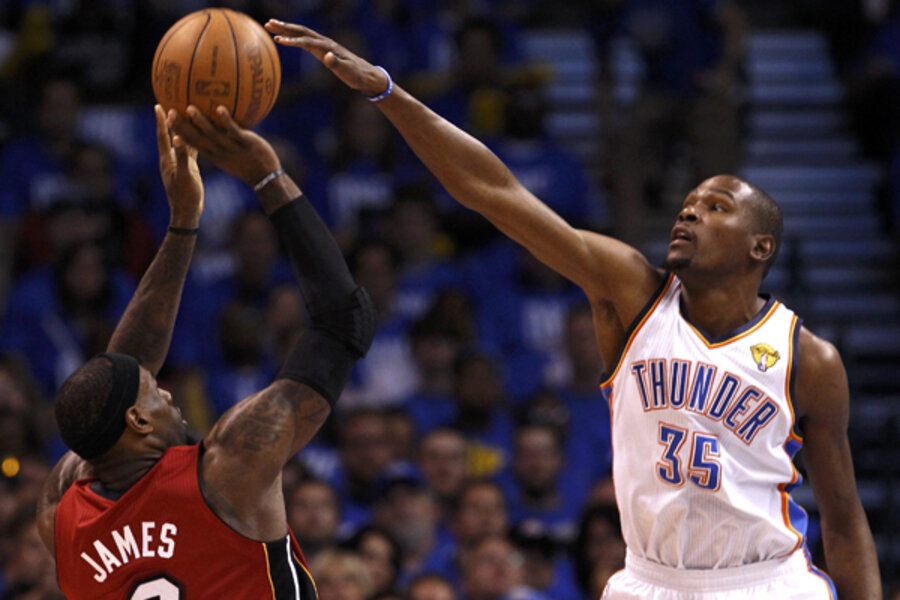 bbddda1df20 NBA Finals  Thunder overcomes  opening night jitters  to cool off Heat