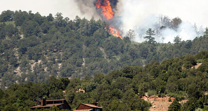 Colorado wildfires move toward US Air Force Academy