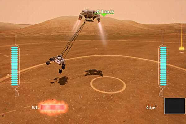 footage of mars rover landing - photo #3