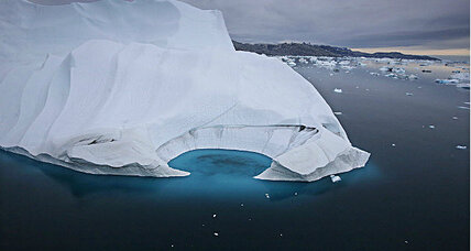 Gigantic iceberg breaks away from glacier in north Greenland