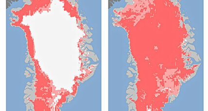 What caused the sudden massive ice melt in Greenland?