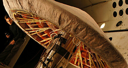 Inflatable heat shield could be used to land humans on Mars, NASA says