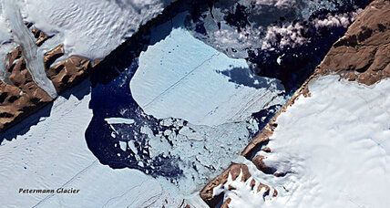 Did the huge Greenland glacier break apart because of global warming? Maybe not.