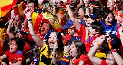Sweet football victory helps Spain forget economic crisis