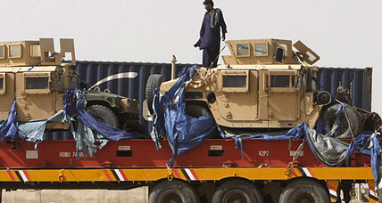 First NATO trucks roll into Afghanistan after months of negotiation