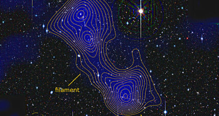 Giant filament of dark matter connects galaxy clusters, say astronomers (+video)