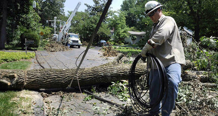 Utility crews race to restore power to hundreds of thousands