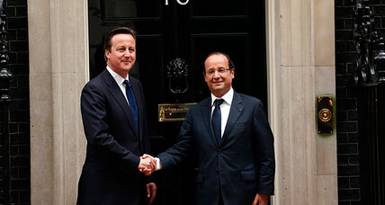 The Socialist, the Tory, and the queen: Hollande visits UK