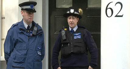 Rausing London home sealed off by police