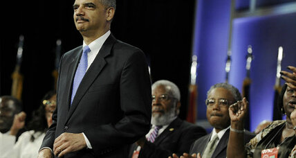 Attorney General Eric Holder, in Texas, slams state's voter ID law
