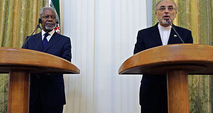 Kofi Annan, in jab at US, travels to Tehran to say Iran can help on Syria