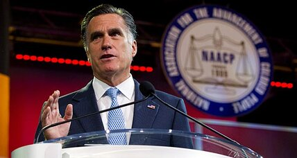 Mitt Romney addresses NAACP. How many black votes might he win?