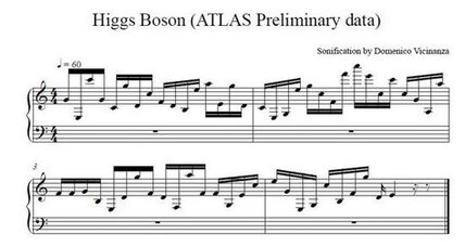 What does the Higgs boson sound like? Atom-smasher data set to music. (+video)