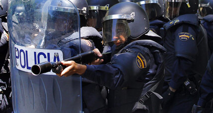 Spanish police clash with miners in Madrid