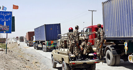 Now, the northern supply line hit: 22 NATO trucks bombed