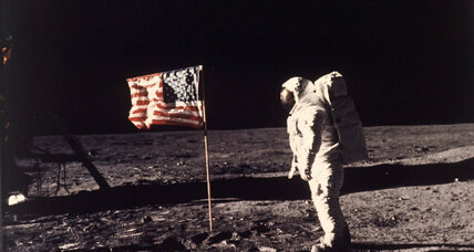 From the Monitor's archives: Man walks on moon