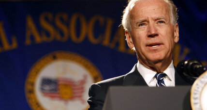 Biden speech avoids politics, expressess sympathy for Colo. shooting victims