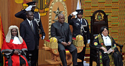 After death of Ghana's president, a calm transition