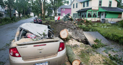 Intense storms strike Northeast, cleanup begins
