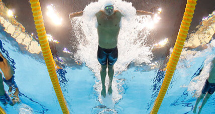 What happened to Michael Phelps? Ryan Lochte blitzes everyone in 400 IM.