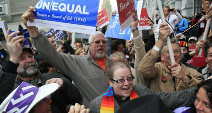 Gay marriage: California's Prop. 8 lands on doorstep of US Supreme Court (+video)
