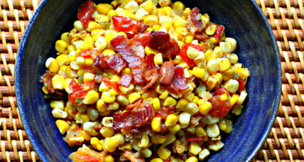 Cajun stewed corn and tomatoes