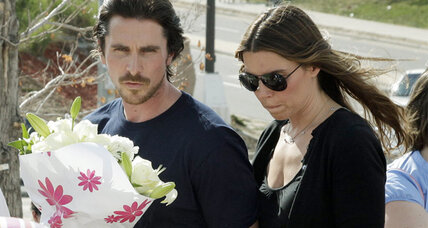 Christian Bale visits victims of shooting at Colorado hospital