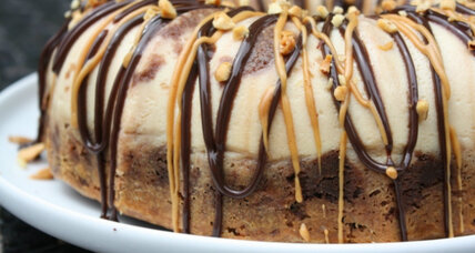 Chocolate peanut butter chocoflan