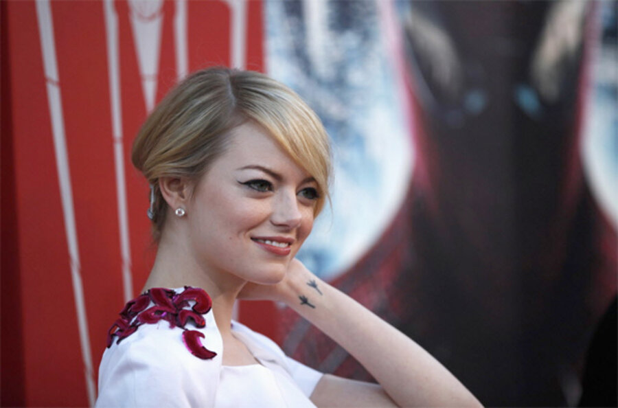 Emma Stone Scarlet Letter.Emma Stone A Superhero Movie Is Only One Of Many Genres For