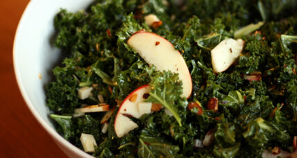 Meatless Monday: Kale, apple, almond and Pecorino salad
