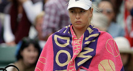 Maria Sharapova, No. 1 seed, defeated at Wimbledon
