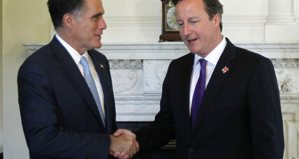 Conservatives of a feather? Romney meets with British PM Cameron