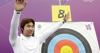 Legally blind S. Korean archer sets world record in London Olympics