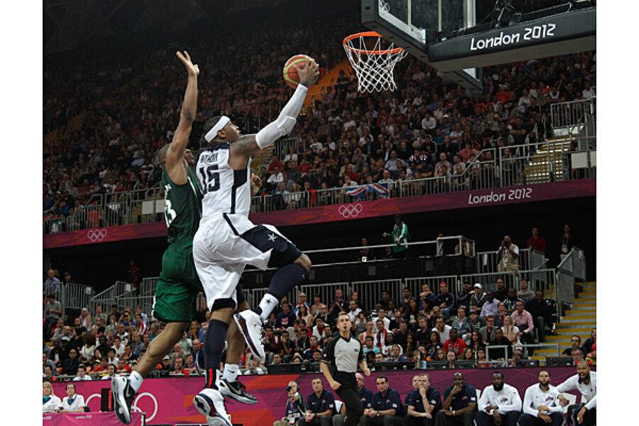 Olympics basketball: US men's team blows by Nigeria, 156 ...