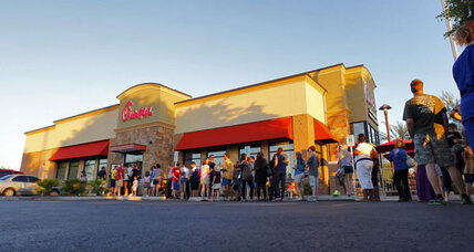 Chick-fil-A sets sales record amid controversy